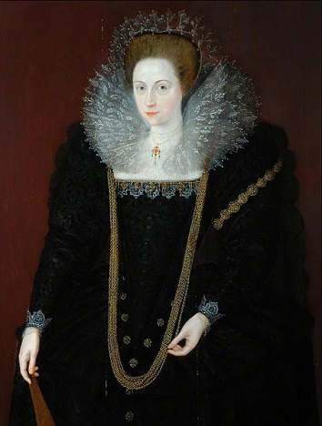A Lady, 1595 (Marcus Gheeraerts the Younger) (1561-1636)  The Bowes Museum, Barnard Castle, Durham, UK