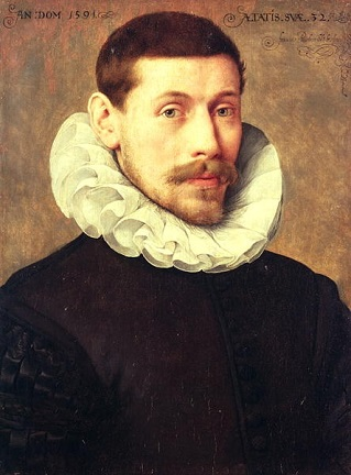 A Man at 32 years of age, 1591(Frans Pourbus the Younger) (1569-1622)   Location TBD