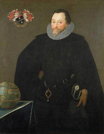 Sir Francis Drake,  1591  (Marcus Gheeraerts the Younger) (1561-1636)  National Maritime Museum, Greenwich, UK,BHC2662