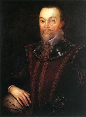 Sir Francis Drake,  after 1590  (Marcus Gheeraerts the Younger?) (1561-1636)     Buckland Abbey, West Devon, England