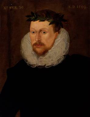 Michael Drayton at 36 years old, ca. 1599  (Unknown Artist)       National Portrait Gallery, London     776