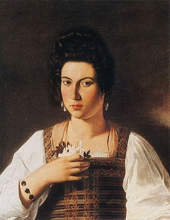 A Young Woman, presumed to be Fillede Melandroni, 1597 (Caravaggio) (1571-1610)   Collezione del Marchese Giustiniani, destroyed Berlin, 1945
