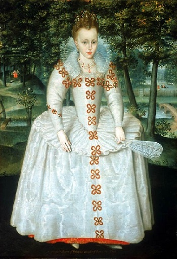 "Princess Elizabeth of Bohemia, ""The Winter Queen"", 1603 (Robert Peake the Elder) (1551-1619)  National Maritime Museum, Greenwich, BHC 4237"