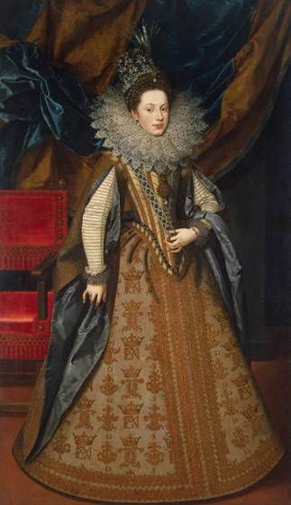 Margaret of Savoy, Duchess of Mantua, 1608  (Frans Pourbus the Younger) (1569-1622) The State Hermitage Museum, St. Petersburg