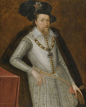 James I, King of England, ca. 1605 (attributed to John de Critz the Elder) (ca. 1551-1642) Christie's Auction House, Sale 8008, Lot 184