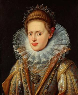 Anna of Tyrol at about 18 years old, ca. 1603 (Frans Pourbus the Younger) (1569-1622) Location TBD
