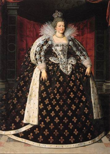 Marie de Médicis, Queen of France, ca. 1610 (Frans Pourbus the Younger) (1569-1622) Musée du Louvre, Paris
