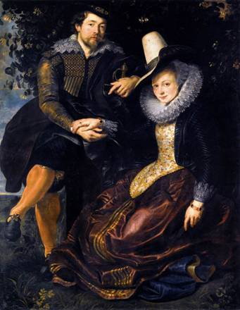 Self-Portrait with 1st Wife Isabella Brandt, ca. 1610 (Peter Paul Rubens) (1577-1640) Alte Pinakothek, München
