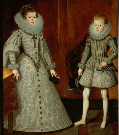 Anna and Phillip IV of Spain, ca. 1612 (Bartolomé Gonzalález) (1564-1627) Kunsthistorisches Museum, Wien, GG_3199