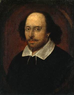 A Man, possibly William Shakespeare,  ca. 1610  (attributed to  John Taylor) (??-1651) National Portrait Museum, London     NPG 1