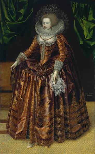 Anne Wortley, later Lady Morton, ca. 1620  (Unknown British Artist) Tate Britain, London,   T03033(1)