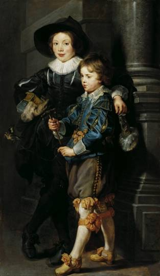 Albert and Nicolaas Rubens, ca. 1627  (Peter Paul Rubens) (1577-1640) Palais Lichtenstein, Wien,   GE114