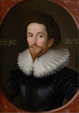 A Gentleman, 1621, circle of William Larkin (ca. 1585-1619) Oil on Panel  Philip Mould, Ltd., London, UK  ***ARTWORK AVAILABLE!***    Price on request   CLICK TO CONTACT OWNER via website Purchase Now!