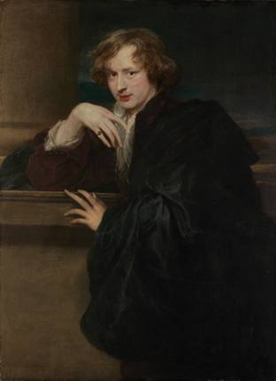 Self-Portrait, ca. 1620-1621 (Anthony van Dyck) (1599-1641)    The Metropolitan Museum of Art, New York, NY     49.7.25cm.