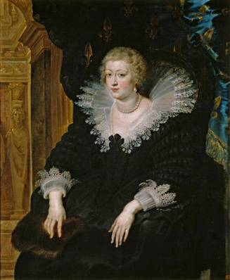 Anne of Austria  Queen of France, 1622 (Peter Paul Rubens) (1599-1641)    Museo Nacional del Prado, Madrid       P01689