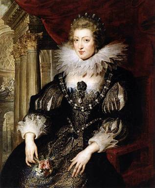 Anne of Austria 1620-1625  (Peter Paul Rubens) (1577-1640)   Musée du Louvre, Paris