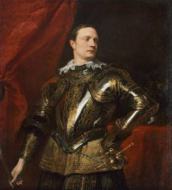 A Young Man in Armour, ca. 1623 (Anthony van Dyck) (1599-1641)   Kunsthistorisches Museum, Wien   GG_490
