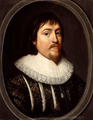 Henry de Vere, 18th Earl of Oxford, ca. 1620-1625  (Unknown Artist, style of Cornelius Johnson)   National Portrait Gallery, London  NPG950