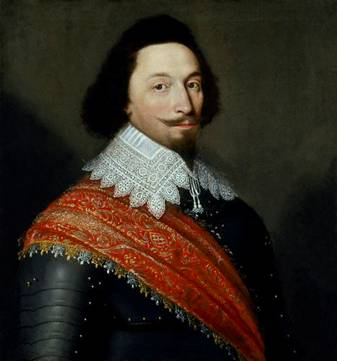 A Man, possibly George Villiers, 1st Duke Buckingham, 1627 (attributed to Cornelius de Neve) (1612-1678)  National Portrait Gallery, London 1346