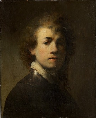 Self-Portrait,  ca. 1629  (Rembrandt van Rijn) (1606-1669) Germanisches Nationalmuseum, Nurmberg