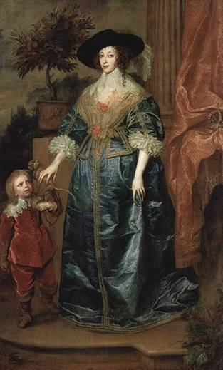 Henrietta Maria  with Sir Jeffrey Hudson, 1633 (Sir Anthony Van Dyck) (1599-1641)   National Gallery of Art, Washington, D.C.