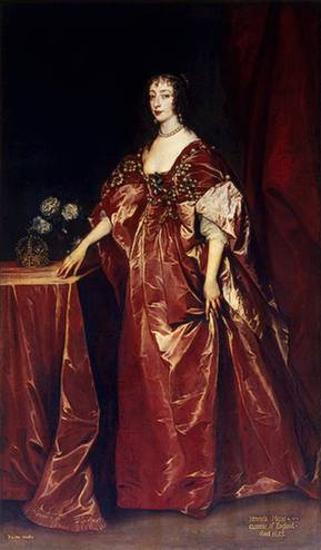 Henrietta-Maria,  1638 (Anthony van Dyck) (1599-1641) State Hermitage Museum, St. Petersburg      Walpole Collection