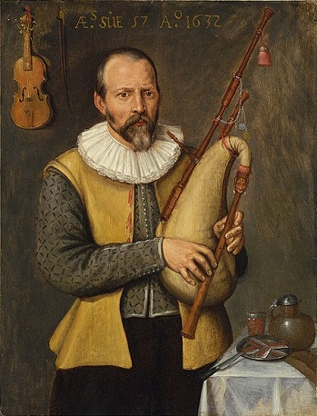A Musician with Bagpipes, 1632 (Unknown Artist)  Philip Mould, Ltd, London