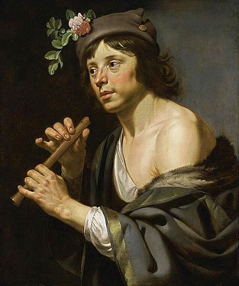 A Young Man as Shepherd Holding a Flute, ca. 1630 (Jan van Bijlert) (ca. 1597-1671)  Private Collection