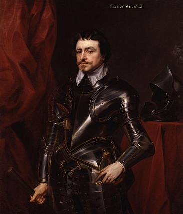 Thomas Wentworth, 1st Earl of Strafford, ca. 1633 (after Anthony van Dyck) (1599-1641)   National Portrait Gallery, London,  NPG 2960
