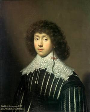Thomas Hamner at 19 years old, ca. 1631  (Cornelis Janssens) (1593-1661)   Private Collection