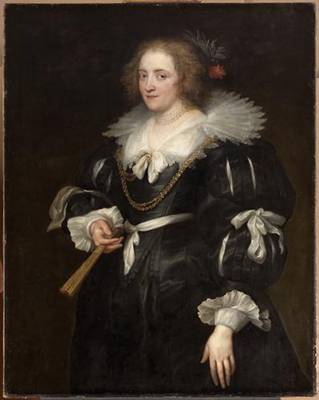 A Lady, ca. 1630-1632 (Anthony van Dyck) (1599-1641) Kunsthistorisches Museum, Wien GG_504
