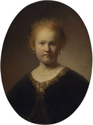 A Girl, ca. 1632   (Rembrandt van Rijn) (1606-1669)Private Collection, New York
