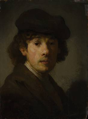 Rembrandt as a Young Man, ca. 1630-1635  (style of Rembrandt van Rijn) (1606-1669)  The Metropolitan Museum of Art, New York, NY    53.18
