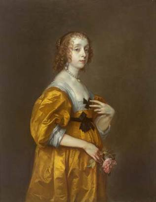 Mary Villiers, Lady Herbert of Shurland,  ca. 1636  (Anthony Van Dyck) (1599-1641) Timken Museum of Art, San Diego, CA