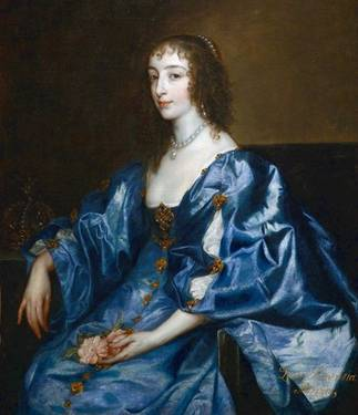 Henrietta Maria of France, ca. 1636-1638 (Anthony van Dyck) (1599-1641) The Weiss Gallery, London