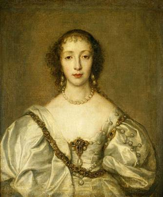 Henrietta Maria at 29 years old, ca. 1638 (Anthony van Dyck) (1599-1641)   The Royal Collection