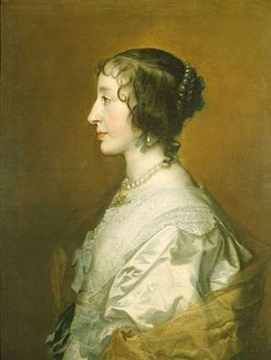 Henrietta Maria at 29 years old, ca. 1638 (Anthony van Dyck) (1599-1641) The Royal Collection, UK
