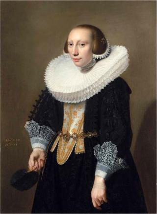 A Lady, 1634   (Jan Daemon Cool) (ca. 1589-1660) The Weiss Gallery, London