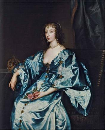 Henrietta Maria of France, ca. 1636-1638 (Sir Anthony van Dyck) (1599-1641)  San Diego Museum of Art, CA