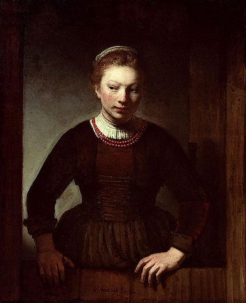 A Young Woman, 1645 (Samuel van Hoogstraten) (1627-1678) The Art Institute of Chicago, IL