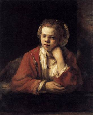A Girl at a Window, 1651 (Rembrandt) (1606-1669) Nationalmuseum, Stockholm