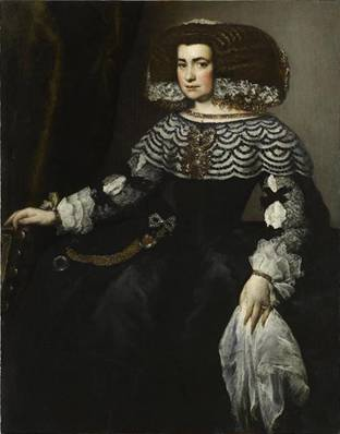 A Lady of the Spanish Court, ca. 1552 (attributed to Juan Bautista Martínez del Mazo) (ca. 1612--1667) Musée du Louvre, Paris RF 2037