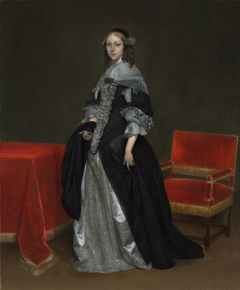 A Woman, 1665 (Gerard Terborch) (1617-1681)  Cleveland Art Museum, OH, 1944.93