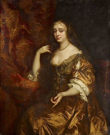 Anne Hyde, Duchess of York, ca. 1662 (Sir Peter Lely) (1618-1680)  The Royal Collection,  Hampton Court Palace, RCIN 405641