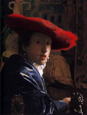 The Girl with the Red Hat, ca. 1666-1668 (Johannes Vermeer) (1632-1675) National Gallery of Art, Washington, D.C.