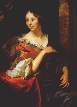 Françoise van Diemen, the artist's wife, 1679 (Gottfreid Schalcken) (1643-1706) Private Collection