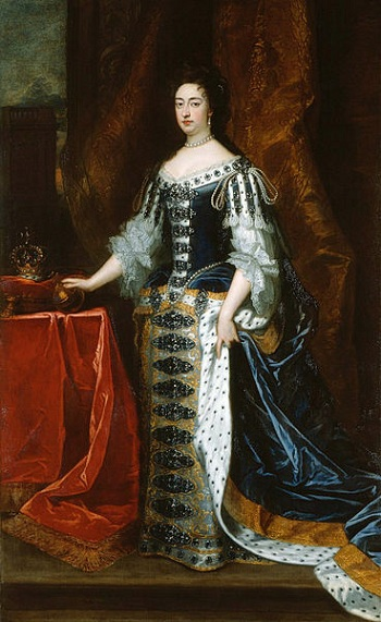 Mary II, Queen of England, 1690 (Sir Godfrey Kneller) (1646-1723)     Royal Collection, UK,   RCIN 405674