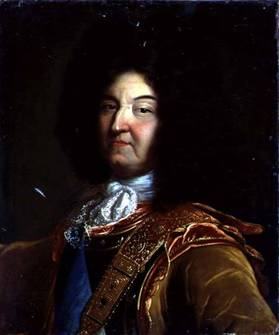 Louis XIV at 63 years old, ca. 1701  (possibly by Hyacinthe Rigaud) (1659-1743)   Location TBD