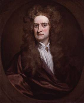 Isaac Newton at 59 years old, ca. 1702 (Sir Godfrey Kneller) (1646-1723)  Location TBD