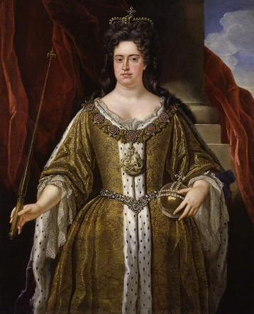 Queen Anne of England, ca. 1702 (studio of John Closterman) (1660-1711)   National Portrait Gallery, NPG 215